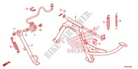 DESCANCO CENTRAL/PEDAL TRAVAOES para Honda SH 125 ABS D TOP CASE 2014